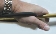 Gripping a Foldspear